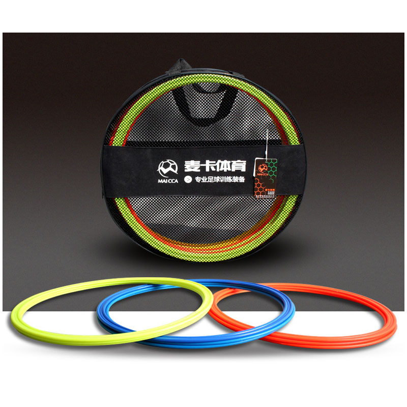MAICCA Soccer speed ring with carry bag agility rings football training equipment Physical pace lap 40cm 12 pcs pack maicca quality soccer corner flag football referee flags wholesale 4pcs pack