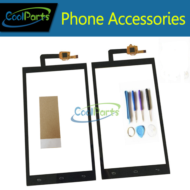 1PC/Lot High Quality 5.0Inch For Micromax Canvas Juice 2 AQ5001 Touch Screen Digitizer Panel Lens Glass With Tape Black Color