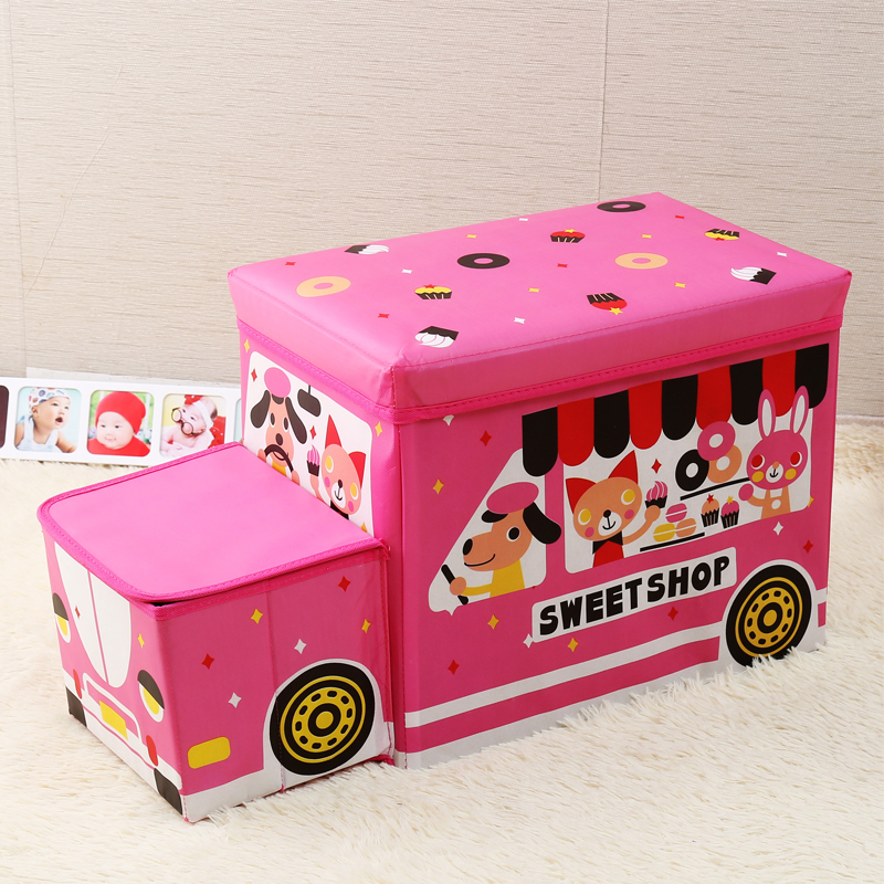 Image 2 - Creative car storage box Storage stool car organizer Trunk storage box car Seat storage bag Cartoon Multi purpose  box-in Stowing Tidying from Automobiles & Motorcycles