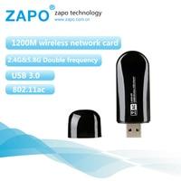 ZAPO Brand Usb Wifi Adapter 1200Mbps Usb Wifi 3 0 Usb Wireless Adapter Wifi 802 11a