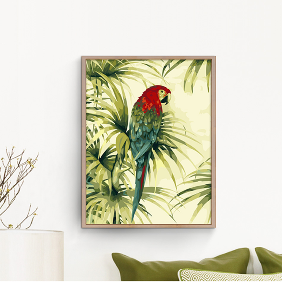 Lovely parrot DIY Painting By Numbers Kits Coloring Paint By ...