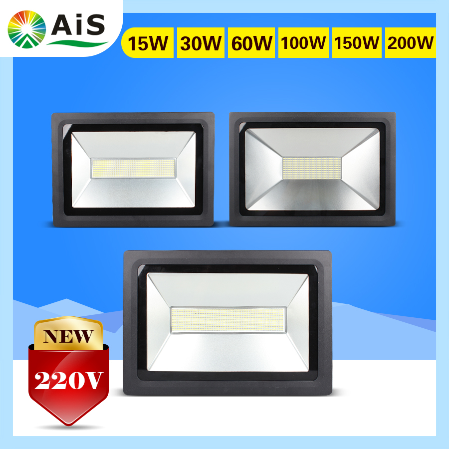 LED Floodlight 200W 150W 100W 60W 30W 15W Ultal Thin Led FloodLight Spotlight 220V 230V Waterproof IP65 Outdoor Wall Lamp