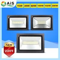LED Floodlight 200W 150W 100W 60W 30W 15W Ultal Thin Led FloodLight Spotlight 220V 230V Waterproof