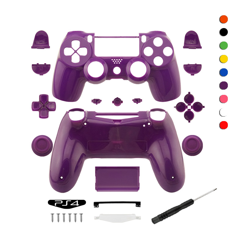 Gloss Controller Shell For Play Station 4 Cover Price Games Replacement Original Wireless Custom For PS4 Housing
