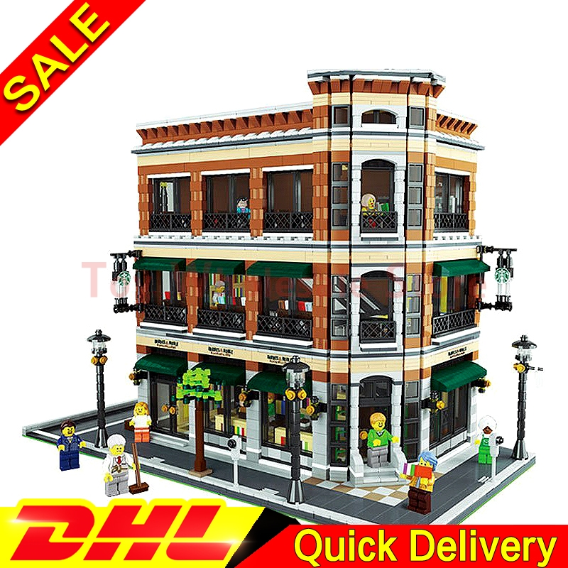 LEPIN 15017 4616Pcs Expert MOC Starbucks Cafe and the bookstore Model set Building Kits Model Christmas lepins Toys Gift the flower arranging expert