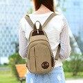 Женская рюкзак 2016 небольшой мини рюкзак женский холст груди мешок Любителей моды путешествия рюкзак кроссбоди Мешок