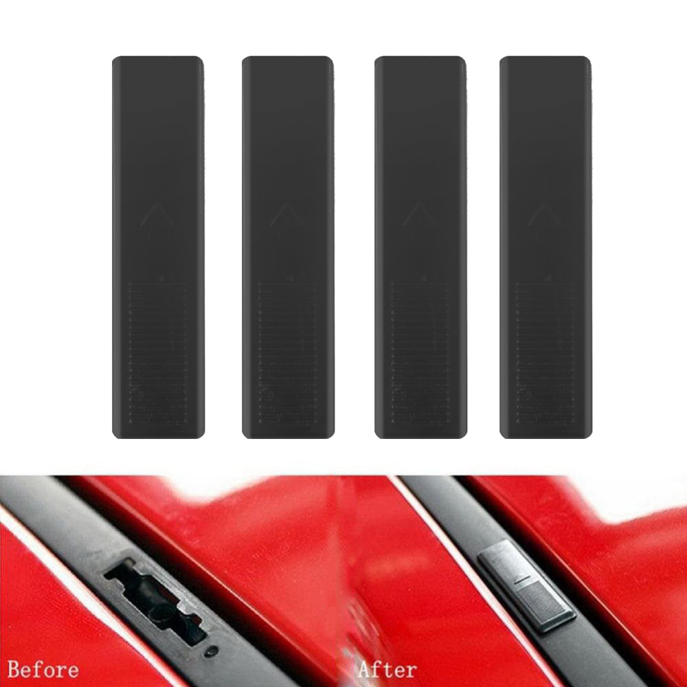 4PC Black Car Roof Rail Clip Rack Moulding Cover Replacement Fastener Automotive Tools Accessories For Mazda 2 3 5 6 CX7