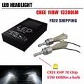 Newest 110W 13200LM CRE-E XHP-70 LED Headlight 55W 6600LM H4 H7 H8 H9 H11 9005 HB3 9006 HB4 9004 9007 H13 Car LED Headlight Bulb