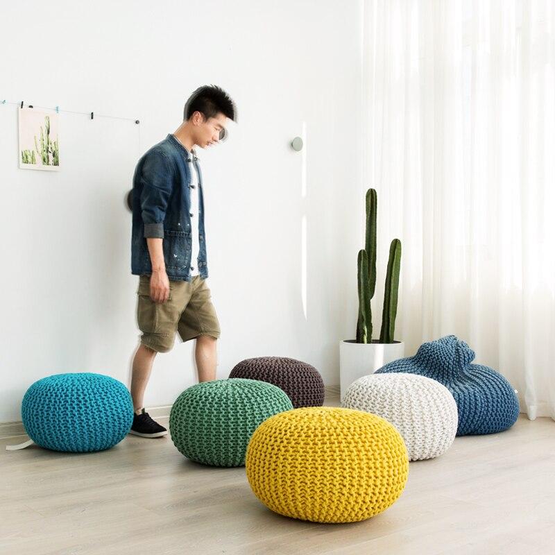 Ins chaud style nordique mode coton futon canapé tatami méditation coussin Yoga chaise ronde coussin siège Pad décoration de la maison