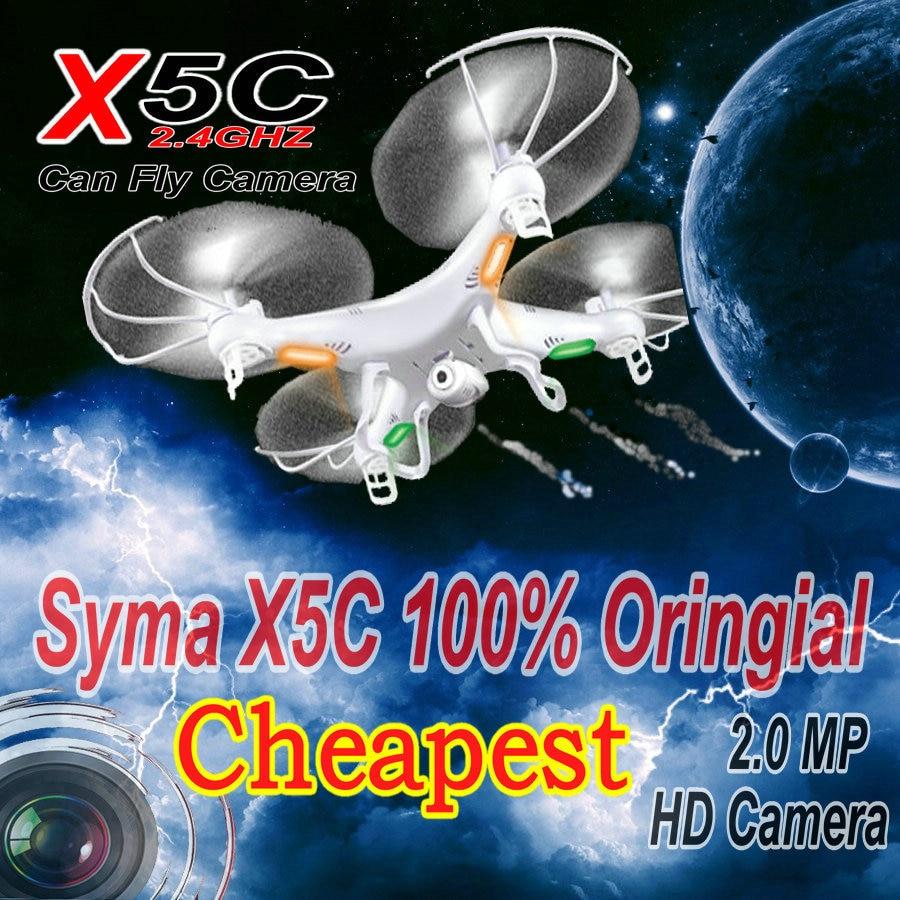 Rc helicóptero syma x5c-1 (versão de atualização syma x5c) 6 eixos giroscópio zangão quadcopter com/sem câmera 2.0mp hd frete grátis