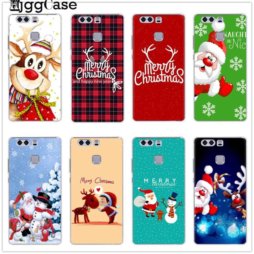Soft Silicone Phone Cover For Huawei P8 P9 Lite 2017 Honor 9 10 Mate 10 20 P10 P20 Lite Pro Merry Christmas Phone Case Cover