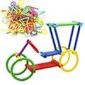 135 unids/lote varillas de plástico bloques de construcción de juguetes junta de DIY juguetes clásicos juguetes de aprendizaje educativo temprano juguetes regalos