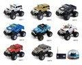 Скоростной игрушечный мини автомобиль RC масштаб 1:58 Неподвижный внедорожник Hummer с огромной основой с передними и задними фарами с амортизацией Лучший рождественский подарок для детей