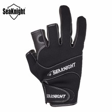 SeaKnight SK03 Fishing Gloves 1Pair/Lot Practical 3 Finger Cut Design L XL XXL Outdoor Breathable Gloves Neoprene&PU Material