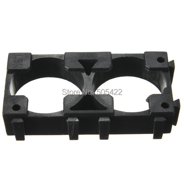 18650 Battery Holder Bracket Abs Material Safety Anti Vibration Cylindrical Battery Holder For Two 18650 Battery