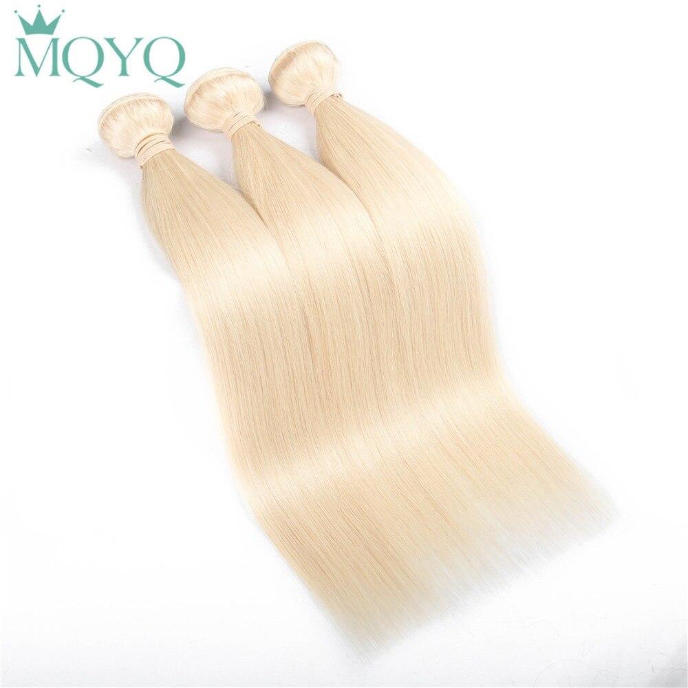 Mqyq 613 блондинка Синтетические волосы соткут Европейской пучки волос 100% Мёд прямые ш ...