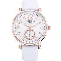 HOLUNS nurse watch top brand watches for women luxury quartz leather watchband white Digital wrist watch Womens watches 2017