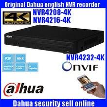 Original ENGLISH firmware Newest Dahua 4K NVR Model Onvif 1U 4K Network Video Recorder DH-NVR4208-4K DH-NVR4216-4K DH-NVR4232-4K
