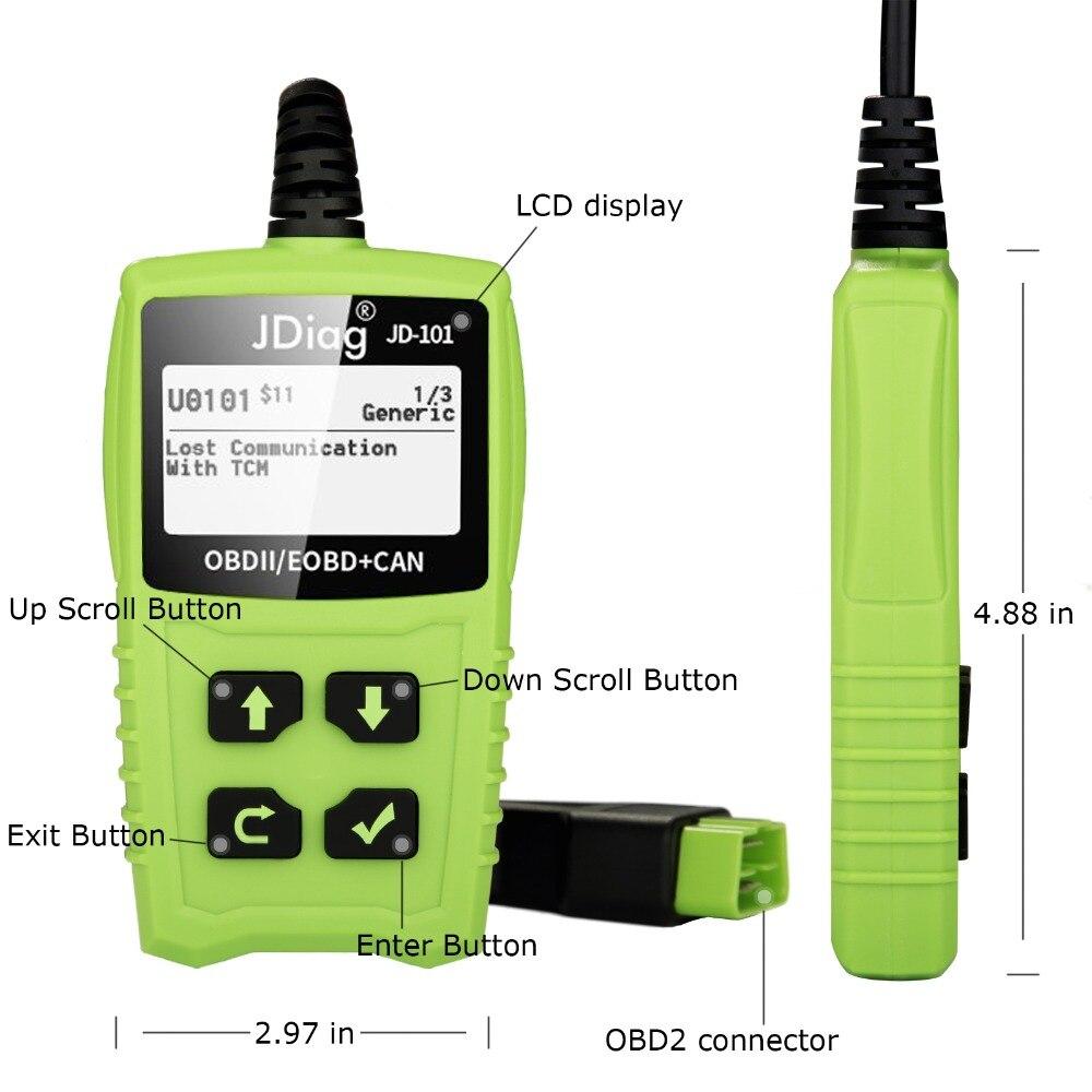 JDiag JD101 Car Auto Code Reader OBD2 OBDII EOBD Scanner