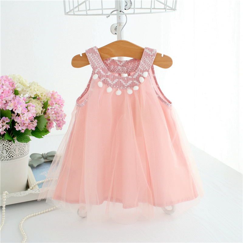 infants clothes 2018 summer girls dress voile bohemian Braces dress fashion cute sleeveless Princess dress baby birthday dress