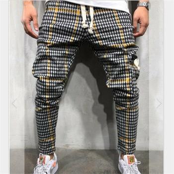 striped men jogging pants men fashion slim pants