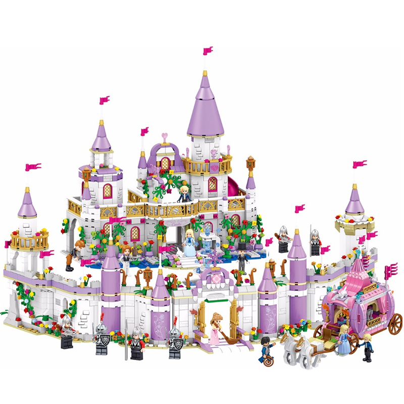 HOT NEW Girl City Princess Villa Windsor Castle Building Blocks Sets Bricks Classic Model Kids Gift Toy Legoings Friends
