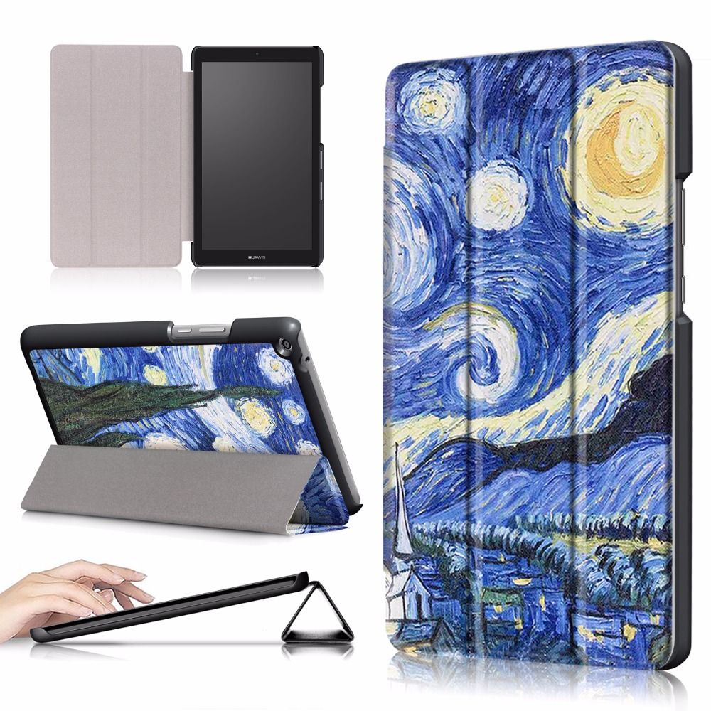 Slim Magnetic PU leather Case For Huawei MediaPad T3 8 KOB-L09 KOB-W09 8.0tablet case For huawei mediapad T3 8.0 cover for huawei mediapad t3 8 0 kob l09 kob w09 t3 8 touch screen digitizer lcd display assembly replacement