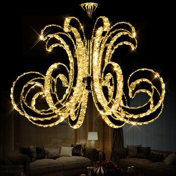 Modern LED Kristal Langit-langit Lampu Mewah Art Kilau LED Chip Lampu Fixture untuk Hotel Restaurant Ruang Tamu Kristal Droplight
