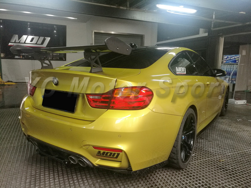 Car Accessories Carbon Fiber <font><b>GTS</b></font> Style Rear GT Wing Fit For 2014-2017 F82 M4 Trunk <font><b>Spoiler</b></font> image