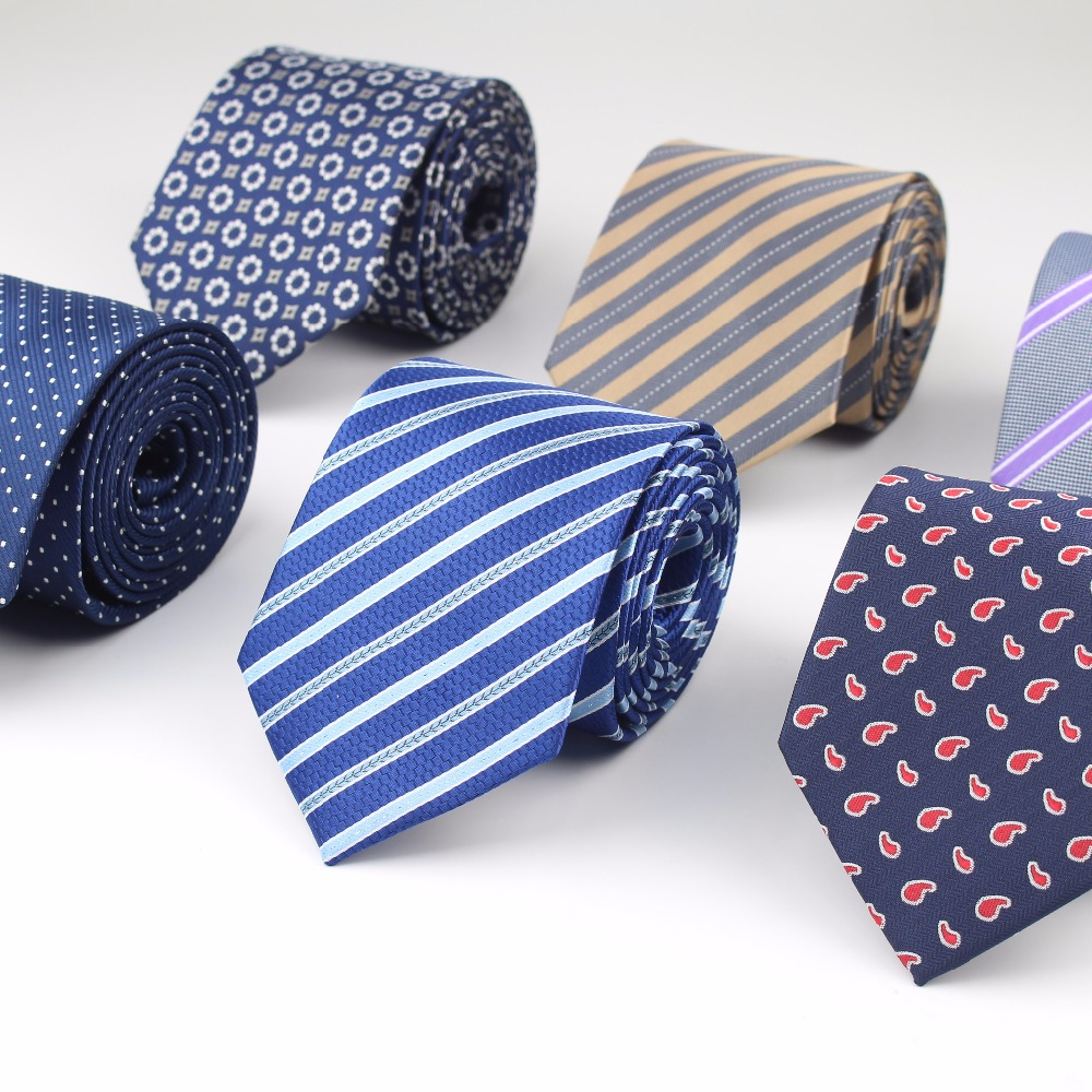 Formal Striped Standard Size Necktie 3.15inch Groom Gentleman Ties Men Chrysanthemum Party Polyester Gravata 8cm Width