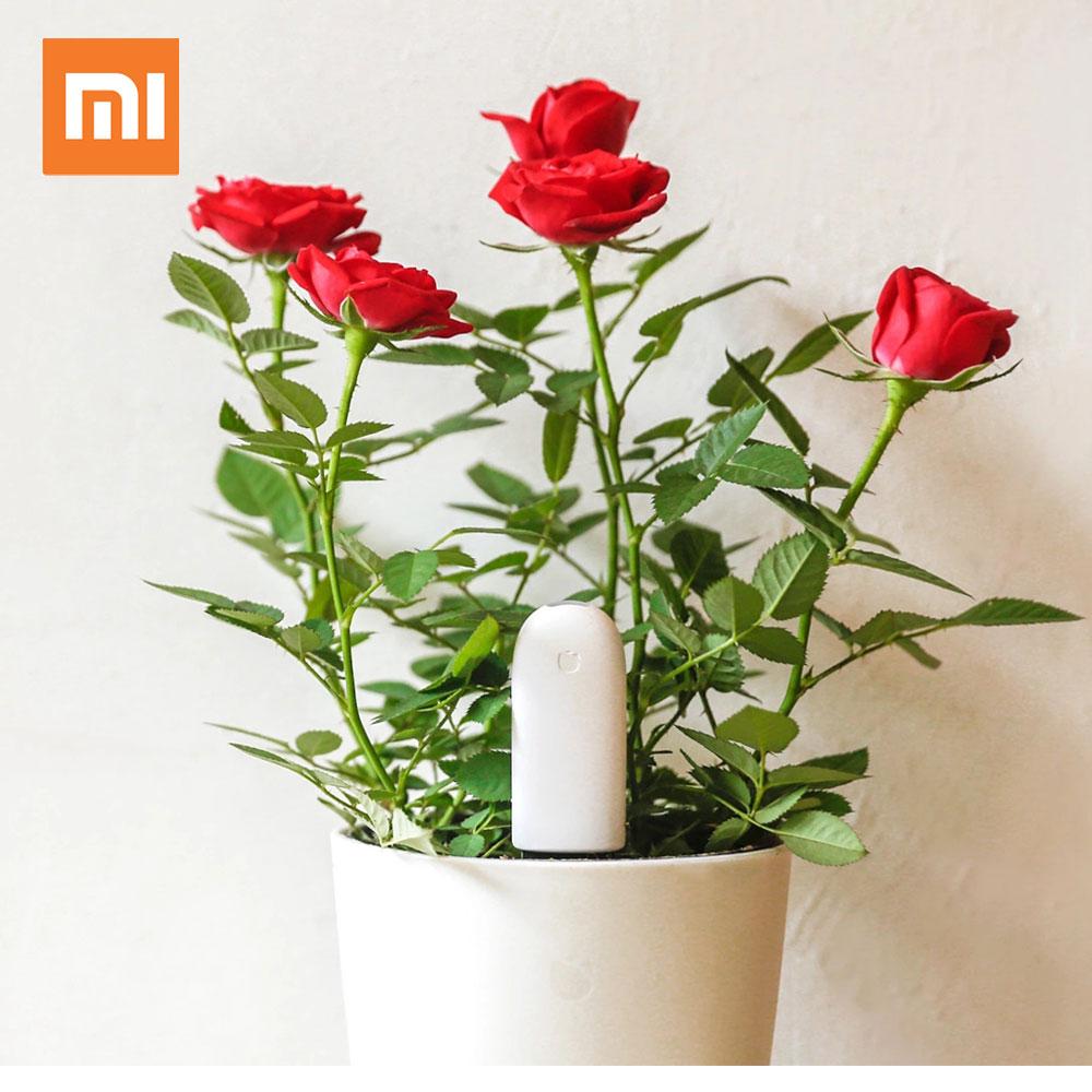 imágenes para Versión internacional original xiaomi mi monitor de flora flores cuidado de sensor de luz inteligente probador digital del agua del suelo planta de jardín