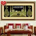 DIY 5D diamante bordado Islam musulmán santa Kaaba mezquita redondo diamante pintura Cruz Stitch Kits diamante mosaico decoración del hogar