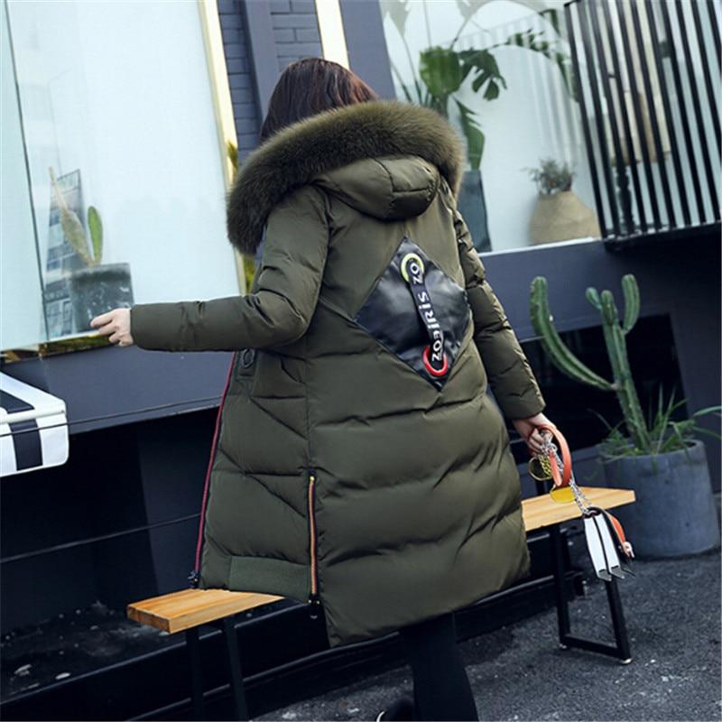 Veste La Le Bas Fourrure Col Ruban Genou Vers Coton Grande Épais coffee Coa black Green Filles Plus pink Sud Du Longue Corée Nouveau Xxxl army D'hiver 2017 Gules blue Taille 7xqdZ