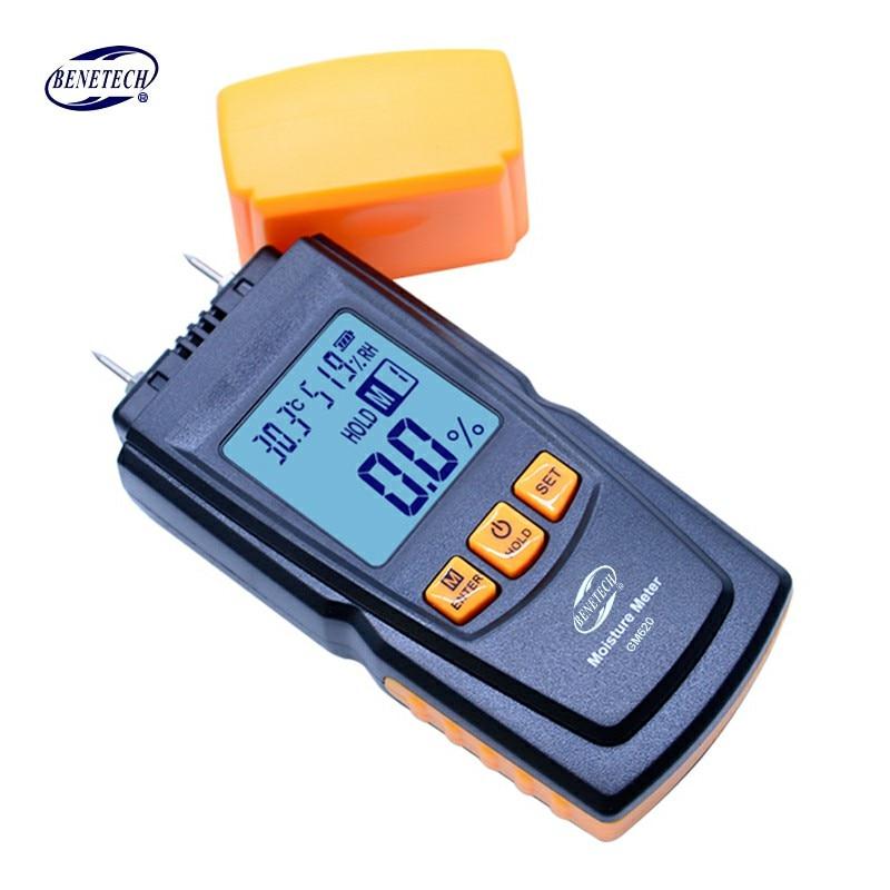 BENETECH GM620 numérique LCD affichage bois humidimètre 2 ~ 70% testeur d'humidité double sonde d'essai bois détecteur d'humidité portable - 4