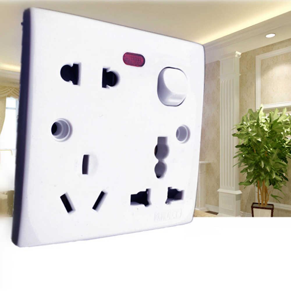 US/UK/ue wtyczka gniazdko elektryczne przełącznik panelu sejf domowy nowy 250 V 10A AC elektryczny gniazdo ścienne