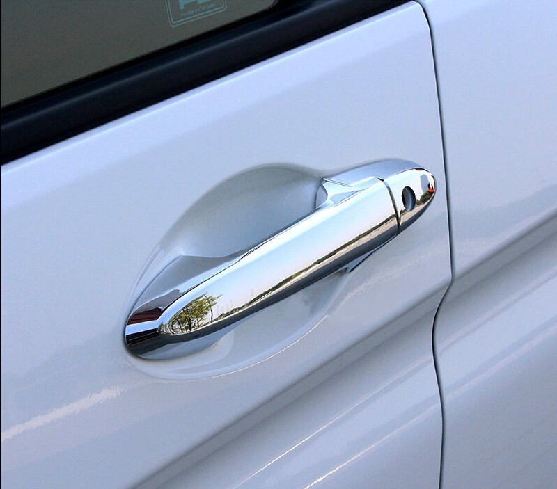 ABS Chrome Door Handle Cover Trim 8pcs For Honda City 2014 2015 2016 nitro triple chrome plated abs mirror 4 door handle cover combo
