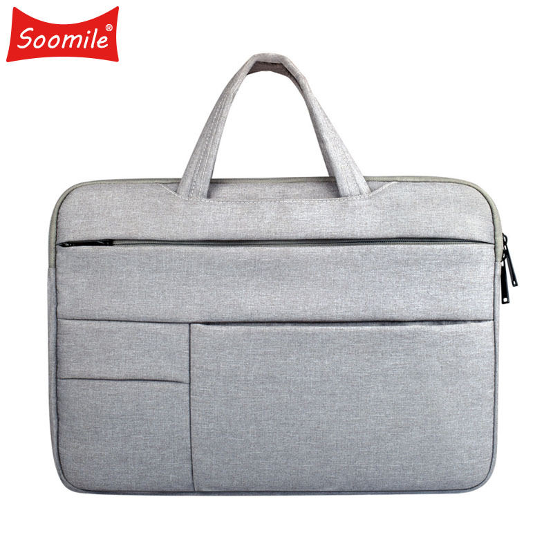 Soomile Men Briefcase Laptop-Bag Notebook Business-Handbag Office Male Portable Multi-Function