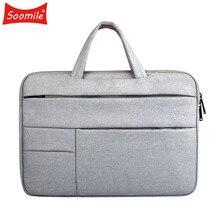 سوموميل 12 15 حقيبة لابتوب الرجال المحمولة حقيبة متعددة الوظائف دفتر حقيبة حاسوب الذكور بسيطة مكتب الأعمال حقيبة يد 2020