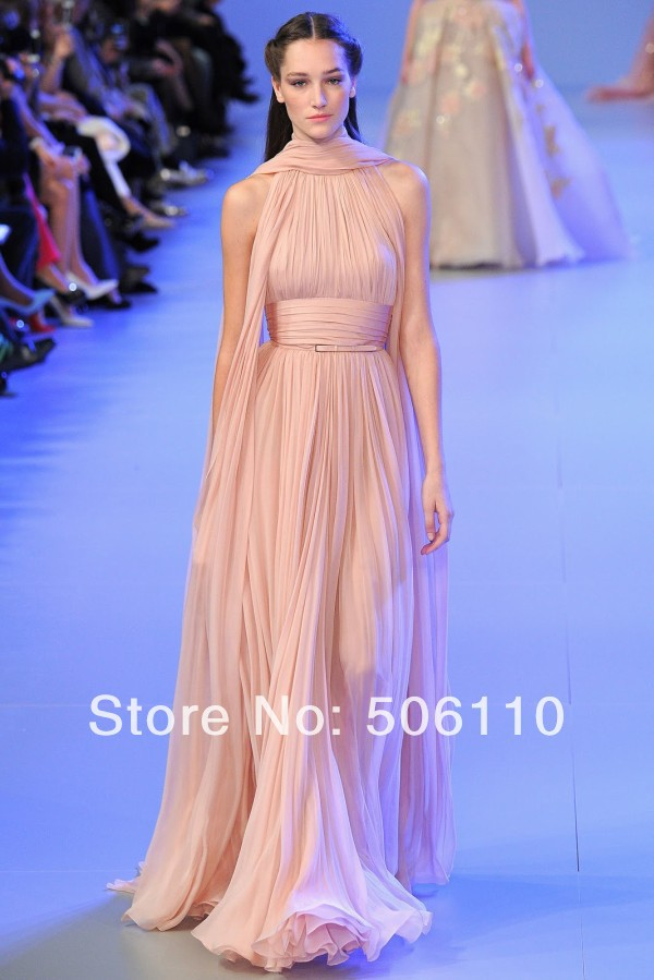 2Elie Saab Haute Couture Prom Dresses Long Chiffon Simple Design ...