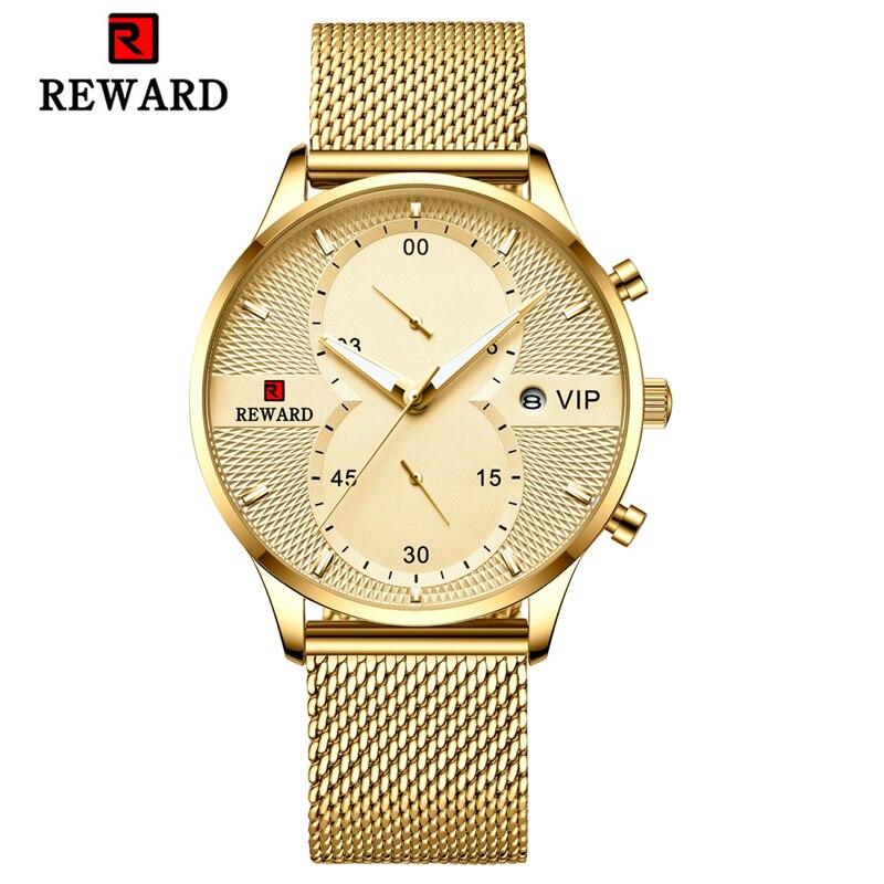 Fashion Mens Watches Luxury Brand Watch Men Quartz Stainless Steel Mesh Band Clock Military Chronograph Watch Relogio Masculino