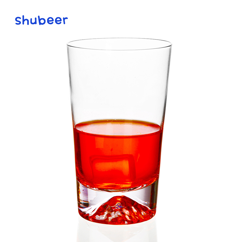 Creative Concave Whiskey Glass Clear Lead-free Wine Whisky Beer Juice Water Drinking Cup for Home Bar Party Wine Glass