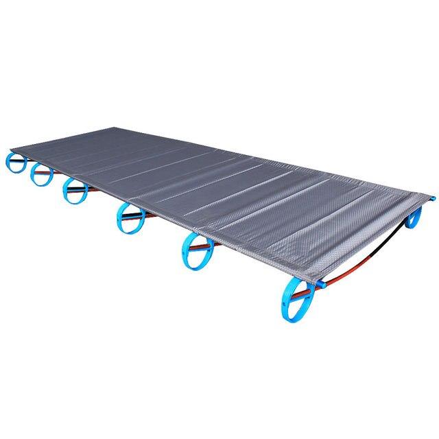 سرير قابل للطي جديد من سبائك الألومنيوم فائق الخفة 1.6 كجم BRS سرير قابل للنقل للتخييم في الهواء الطلق