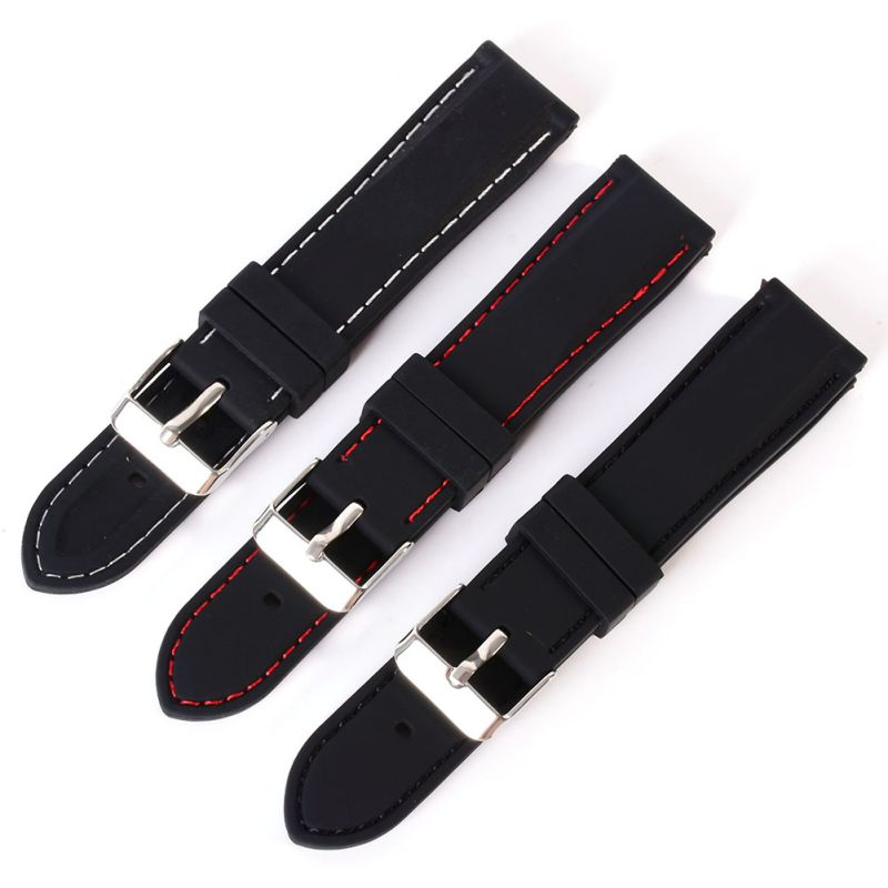 18-24mm Women Men Trendy Army Military Silicone Resin Strap Sports Canvas Wrist Watch Strap Band Mira La Banda adjustable wrist and forearm splint external fixed support wrist brace fixing orthosisfit for men and women