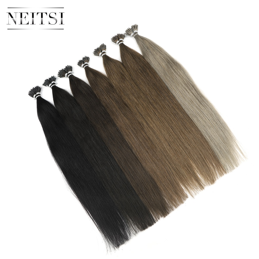 Neitsi Indian Straight Loop Micro Ring Hair Nano Ring Beads - Մարդու մազերը (սպիտակ) - Լուսանկար 2