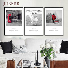 Nordic Black and White Canvas Painting Simple Mix and Match Style Decorative Poster Wall Pictures for Living Room Home Decor