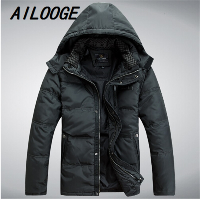 2014 Mens Down jacket With Hood 90% Duck Down Winter Overcoat Autumn Outwear Winter Coat Free Shipping Wholesale And Retail