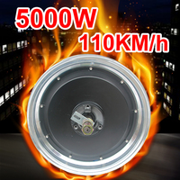 13 Inch 72V 84V 96V 120V 5000w High Speed 110km/h Electric Hub Motor Electric Motorcycle Wheel DIY Electric Car Conversion Kit