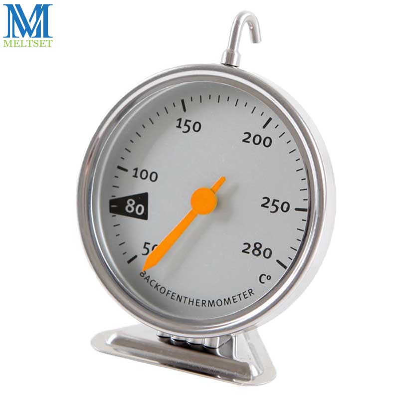 Stainless Steel Baking Tools Kitchen Oven Thermometer Food Meat Dial Oven Dedicated Mechanical Baking Thermometer 50-280 Degrees