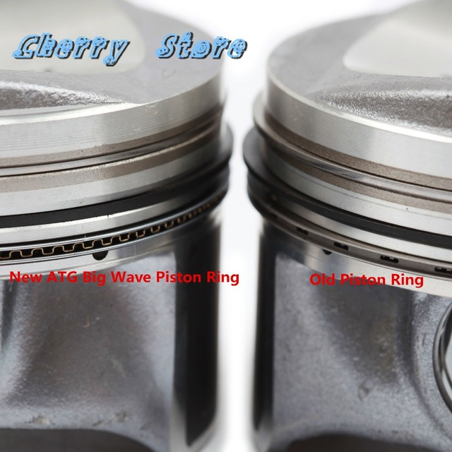 NEW 06H 107 065 AM Engine Piston & Ring Auto Assembly Kit Pin 21mm For VW Passat Tiguan Golf Audi A3 A5 Q5 TT 2.0TFSI 06J198151B 4