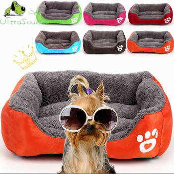 ULTRASOUND PET Dog Kennel Soft Dog beds Puppy Cat Bed Pet House for Small and medium Dog Pad Winter Warm Pet Cushion Pet Product